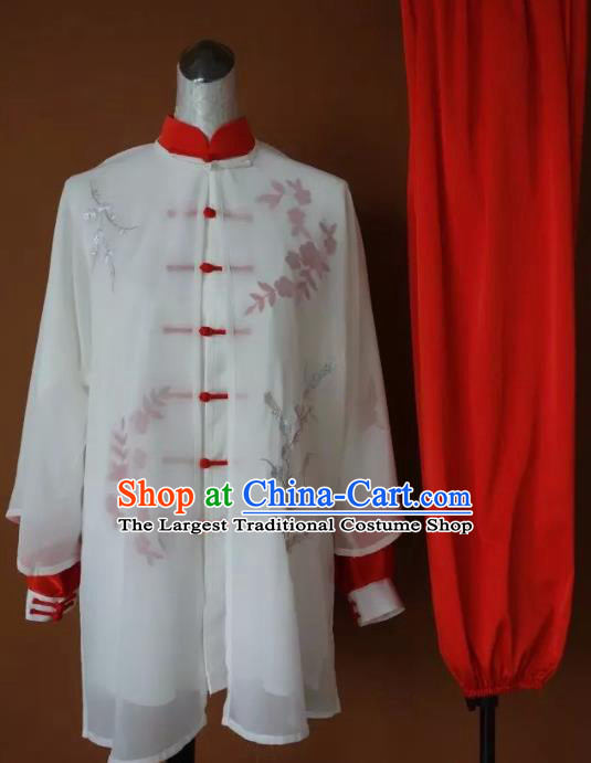 Chinese Traditional Tai Chi Uniform Kung Fu Group Competition Costume for Women