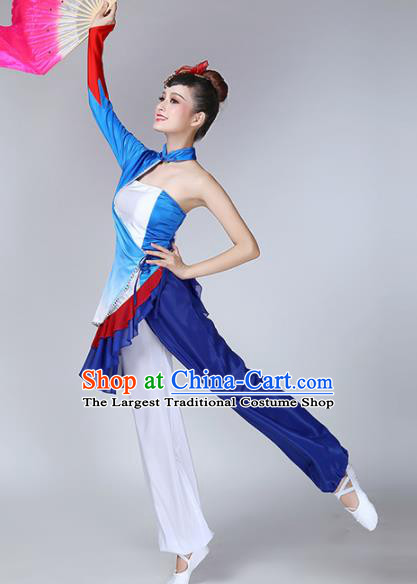 Chinese Traditional Stage Performance Yangko Dance Costume National Folk Dance Fan Dance Clothing for Women