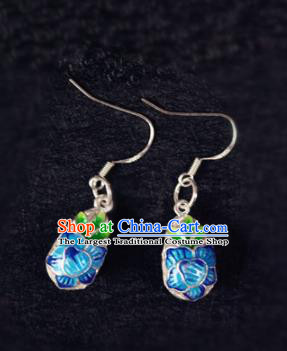 Chinese Ancient Traditional Handmade Cloisonne Earrings Classical Ear Accessories for Women