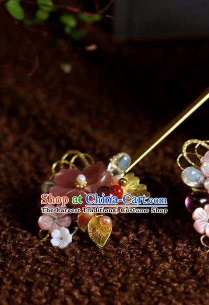 Top Grade Chinese Ancient Bride Wedding Golden Leaf Flowers Hairpins Traditional Hair Accessories Headdress for Women