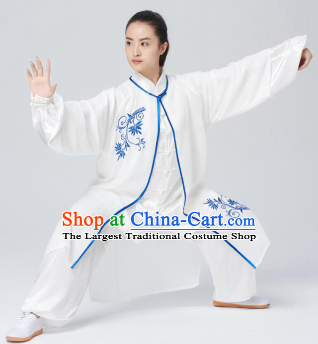 Chinese Traditional Tai Chi Group Costume Martial Arts Kung Fu Competition Embroidered Clothing for Women