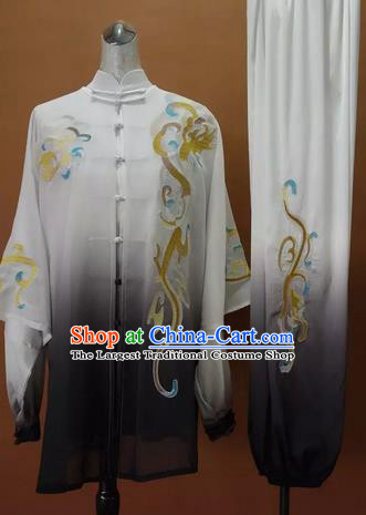 Chinese Traditional Martial Arts Kung Fu Competition Costume Tai Chi Group Embroidered Clothing for Women