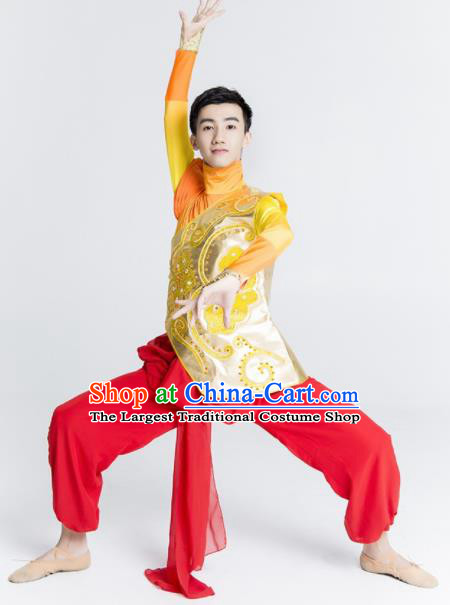 Chinese Traditional National Yangko Dance Clothing Folk Dance Drum Dance Costume for Men