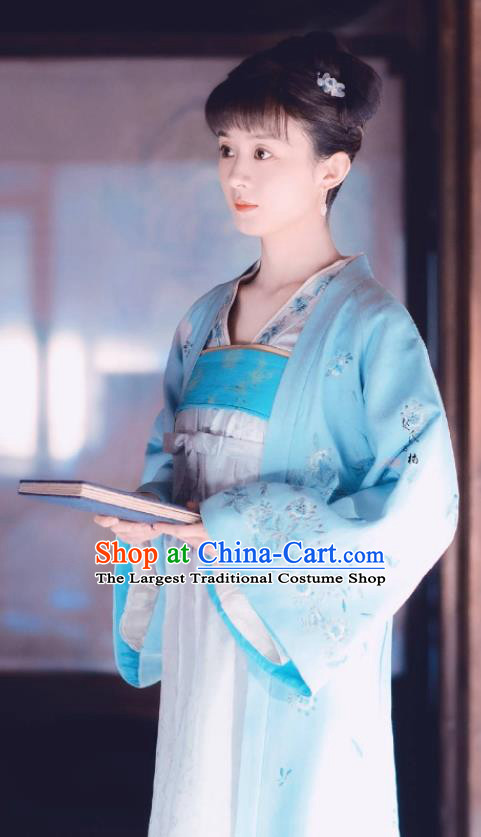 Chinese Ancient Drama The Story Of MingLan Song Dynasty Nobility Lady Embroidered Historical Costume for Women