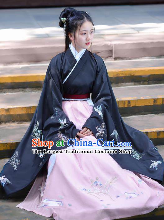 Chinese Ancient Peri Traditional Hanfu Dress Jin Dynasty Palace Princess Historical Costume for Women