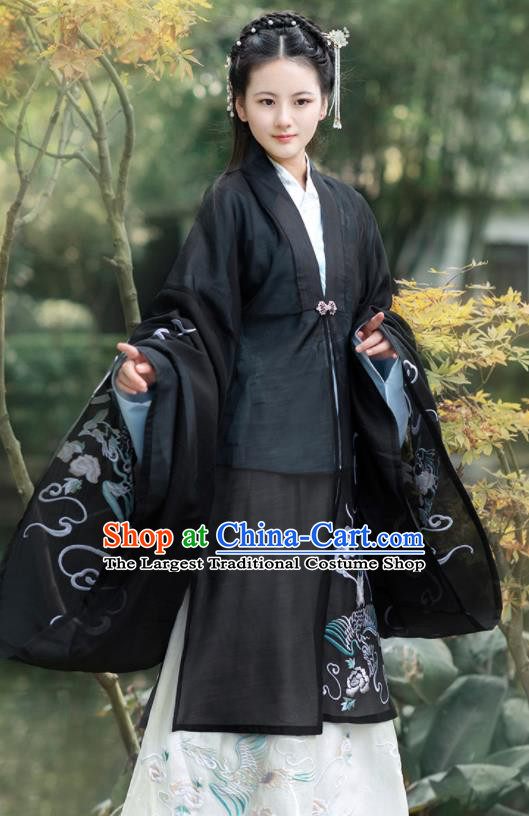 Chinese Traditional Palace Embroidered Hanfu Dress Ancient Ming Dynasty Princess Historical Costume for Women