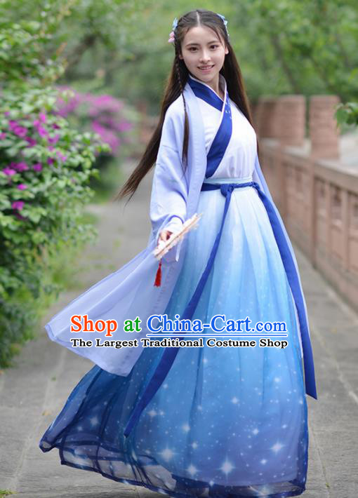 Chinese Ancient Swordsman Traditional Hanfu Dress Ming Dynasty Female Knight Historical Costume for Women