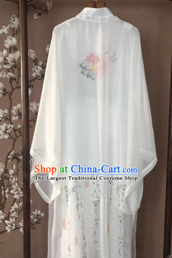 Chinese Traditional Kung Fu Costume Martial Arts Competition Tai Chi Printing Lotus Clothing for Women