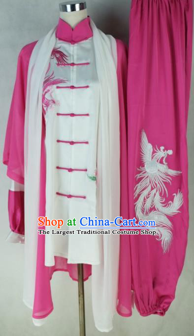 Chinese Traditional Kung Fu Costume Martial Arts Tai Chi Embroidered Phoenix Clothing for Women