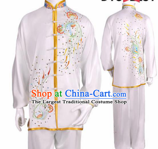 Chinese Traditional Kung Fu Competition Costume Martial Arts Tai Chi Embroidered Phoenix Clothing for Women