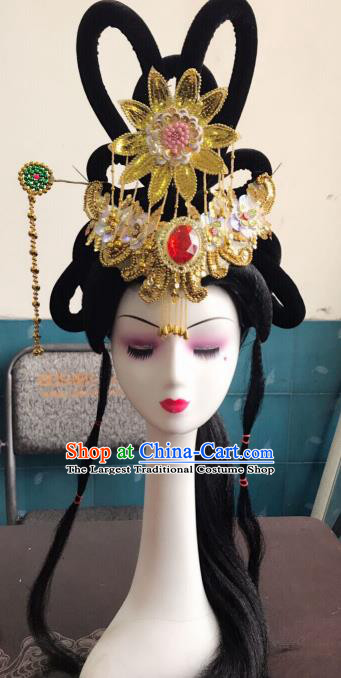Chinese Traditional Beijing Opera Peri Hairpins and Wigs Sheath Peking Opera Princess Hair Accessories for Women