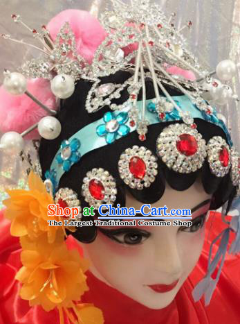 Chinese Traditional Beijing Opera Wigs and Hairpins Headwear Peking Opera Diva Hair Accessories for Women