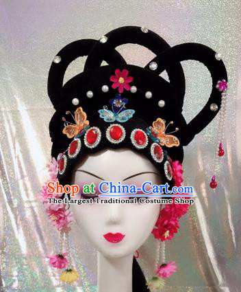 Chinese Traditional Beijing Opera Princess Wigs and Hairpins Peking Opera Diva Hair Accessories for Women