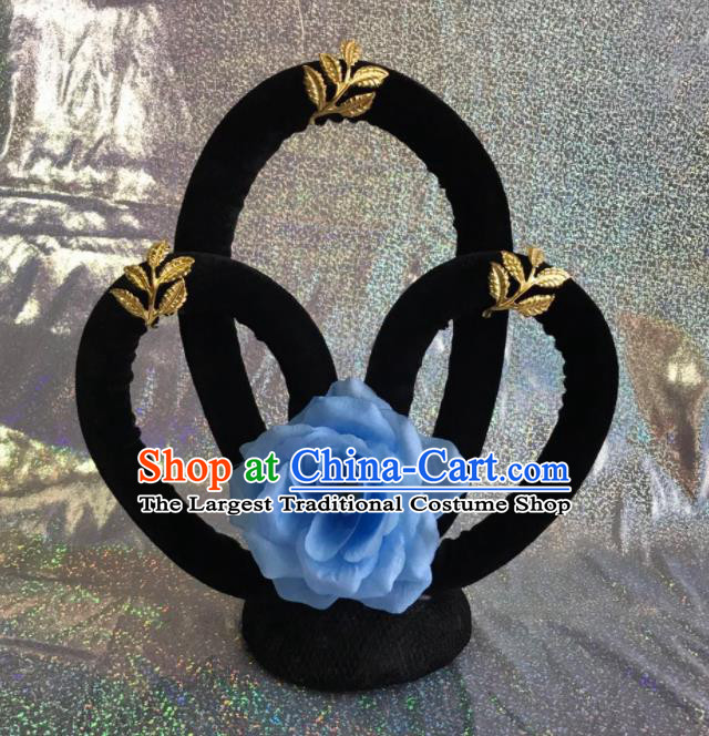 Chinese Traditional Beijing Opera Flying Peri Dance Wigs Peking Opera Princess Hair Accessories for Women