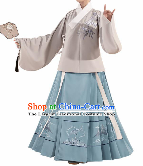 Chinese Traditional Hanfu Dress Ancient Ming Dynasty Nobility Lady Costume for Women