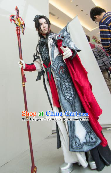Chinese Traditional Cosplay General Costume Ancient Swordsman Armor Clothing for Men