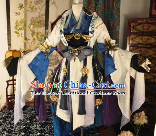 Chinese Traditional Cosplay Heroine Peri Costume Ancient Young Lady Swordswoman Dress for Women