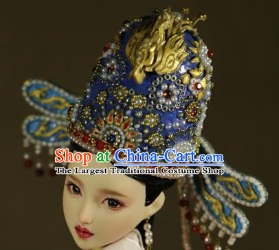 Chinese Ancient Ming Dynasty Empress Hat Phoenix Coronet Headwear Traditional Palace Hair Accessories for Women