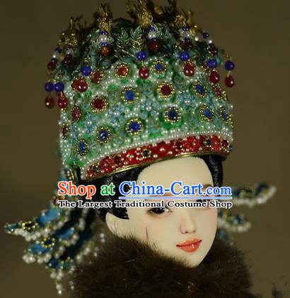 Chinese Ancient Ming Dynasty Imperial Empress Phoenix Coronet Headwear Traditional Palace Hair Accessories for Women