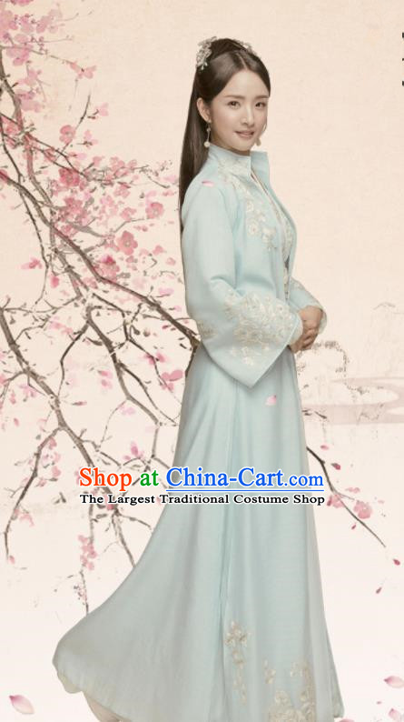Chinese Northern and Southern Dynasties Princess Hanfu Dress Ancient Palace Lady Embroidered Historical Costume for Women