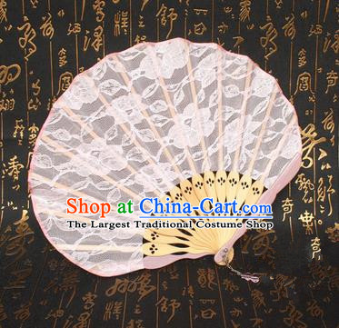 Chinese Handmade Classical Folding Fans Folk Dance Lace Accordion Fan for Women