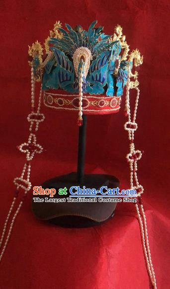 Traditional Chinese Ming Dynasty Queen Phoenix Coronet Headwear Ancient Palace Empress Hair Accessories for Women