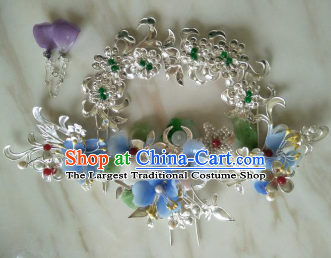 Traditional Chinese Handmade Ancient Princess Hairpins Headwear Hair Accessories for Women