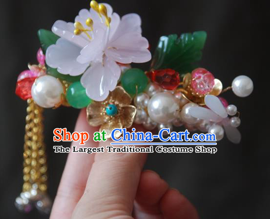 Handmade Chinese Ancient Princess Lotus Dragonfly Hair Claw Hairpins Headwear Hair Accessories for Women