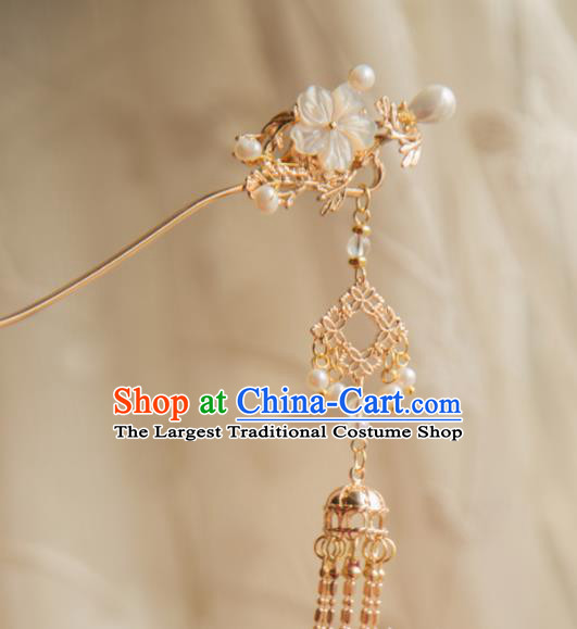 Chinese Handmade Hanfu Hairpins Tassel Step Shake Traditional Ancient Princess Hair Accessories for Women