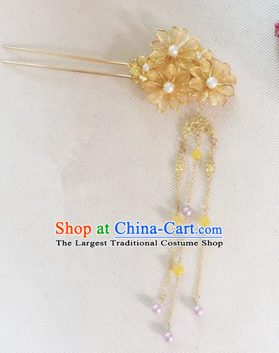 Handmade Chinese Traditional Hanfu Hair Clip Hairpins Ancient Tang Dynasty Imperial Consort Hair Accessories for Women