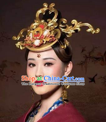 Handmade Chinese Court Phoenix Coronet Traditional Hanfu Hairpins Ancient Tang Dynasty Queen Hair Accessories for Women