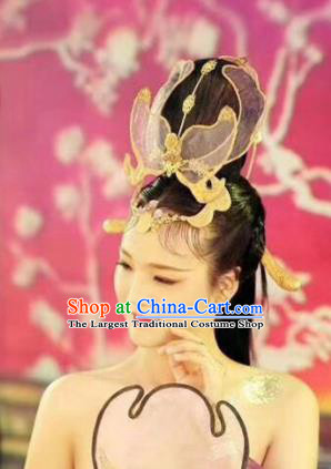 Chinese Handmade Hanfu Tang Dynasty Headwear Traditional Ancient Imperial Consort Hair Accessories for Women