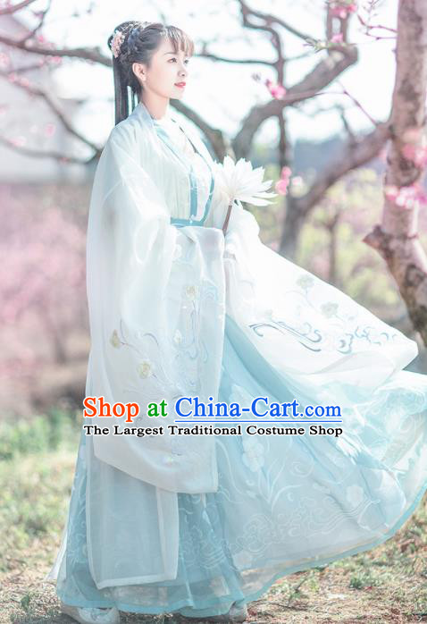 Chinese Ancient Royal Princess Embroidered Hanfu Dress Traditional Tang Dynasty Imperial Consort Historical Costume for Women