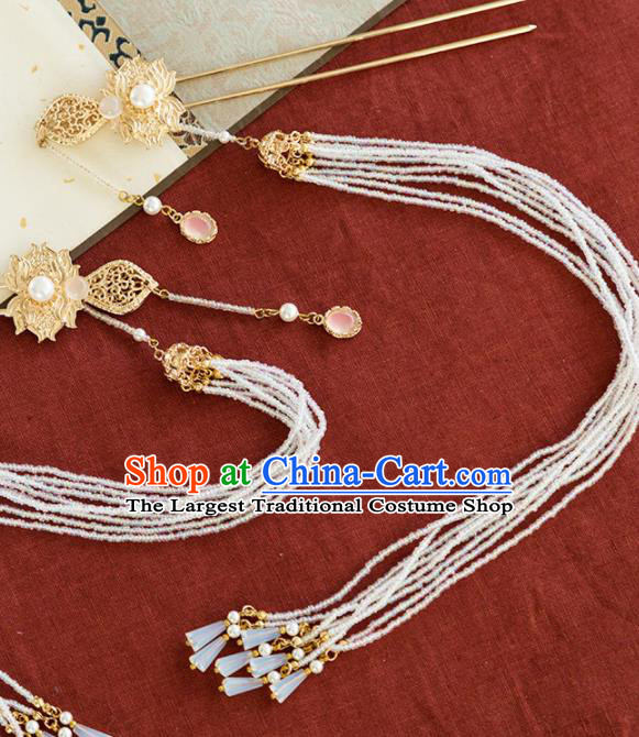 Chinese Handmade Tassel Hair Clips Hairpins Ancient Princess Hair Accessories Headwear for Women