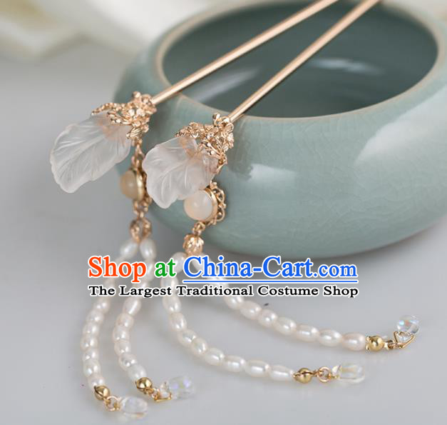 Chinese Handmade Hanfu Pearls Tassel Step Shake Hairpins Ancient Princess Hair Accessories Headwear for Women