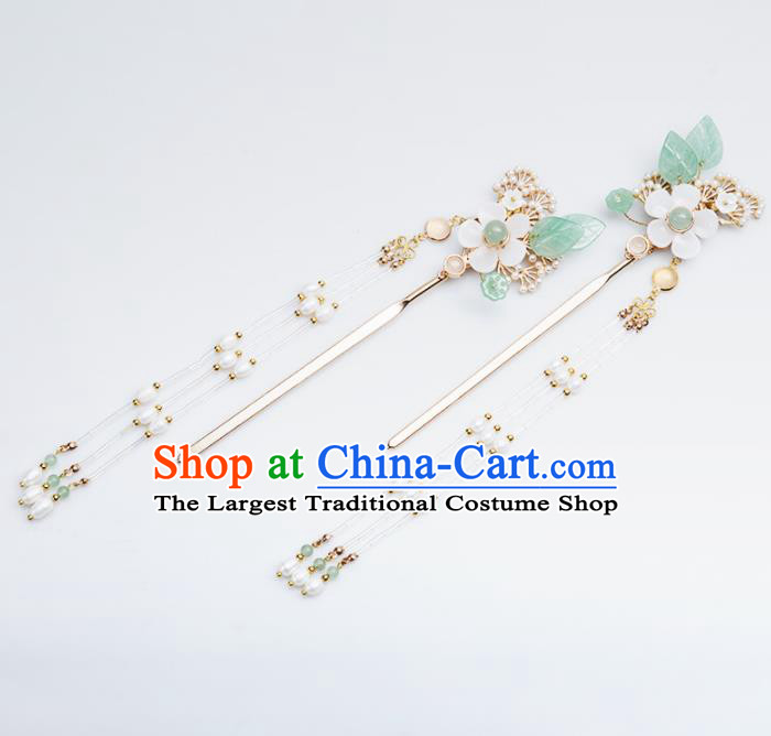 Chinese Handmade Hanfu Hairpins Tassel Step Shake Ancient Princess Hair Accessories Headwear for Women