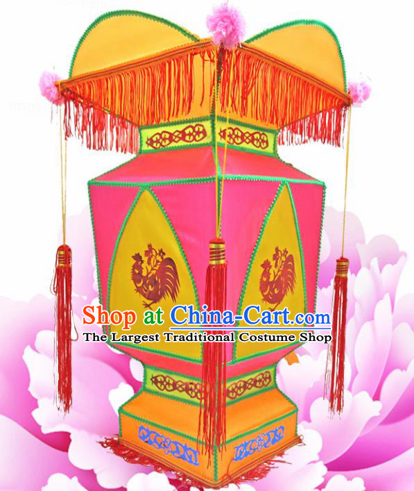 Handmade Chinese Rosy Palace Lanterns Traditional New Year Lantern Ancient Ceiling Lamp