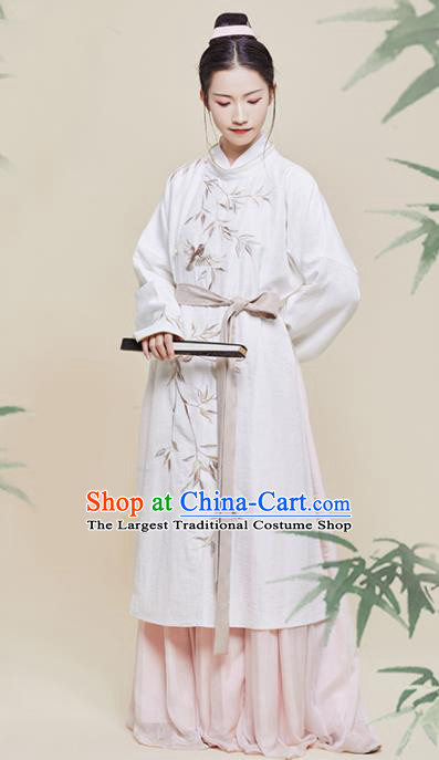 Chinese Traditional Song Dynasty Swordswoman Embroidered Hanfu Dress Ancient Nobility Lady Historical Costume for Women