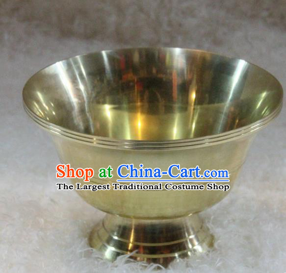 Chinese Traditional Buddhism Brass Bowl Feng Shui Items Vajrayana Buddhist Decoration