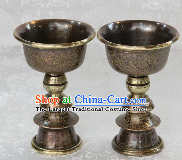 Chinese Traditional Buddhism Copper Candelabrum Feng Shui Items Vajrayana Buddhist Decoration