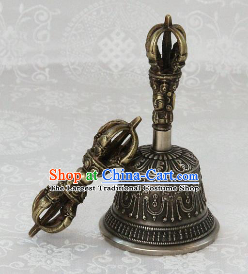 Chinese Traditional Feng Shui Items Buddhism Vajra Pestle Buddhist Copper Bell Musical Instrument