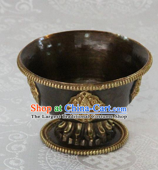 Chinese Traditional Buddhism Copper Bowl Feng Shui Items Vajrayana Buddhist Cup Decoration