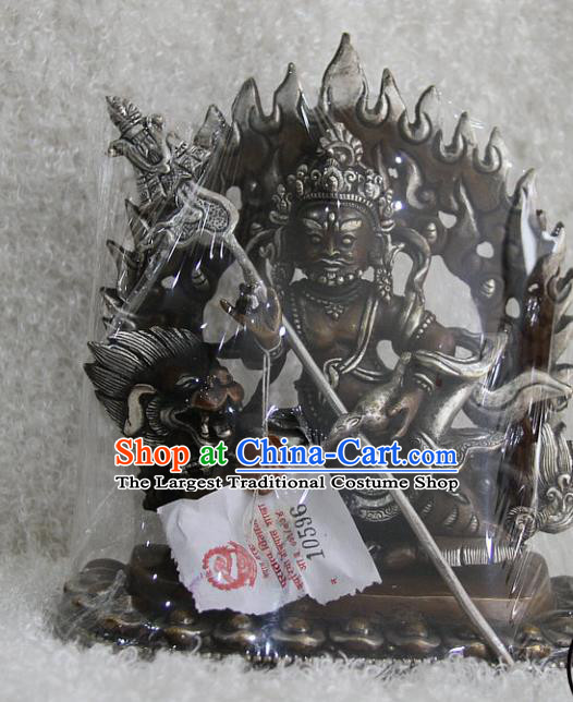 Chinese Traditional Buddhist Copper Buddha Heavenly King Statue Tibetan Buddhism Feng Shui Items Sculpture
