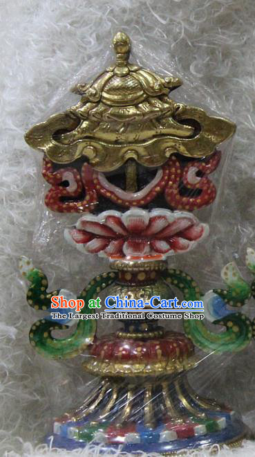 Chinese Traditional Tibetan Buddhism Feng Shui Items Copper Gilding Decoration Buddhist Offerings