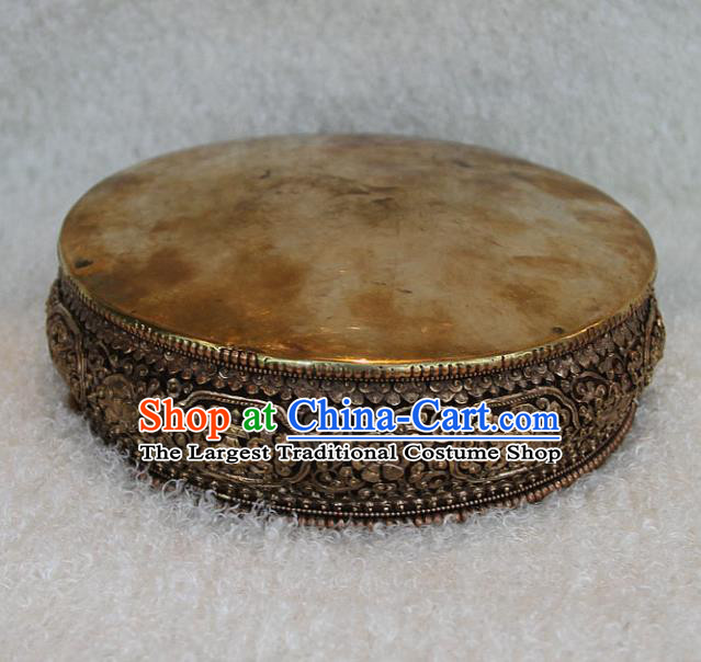 Chinese Traditional Buddhist Copper Tray Buddha Teaboard Decoration Tibetan Buddhism Feng Shui Items