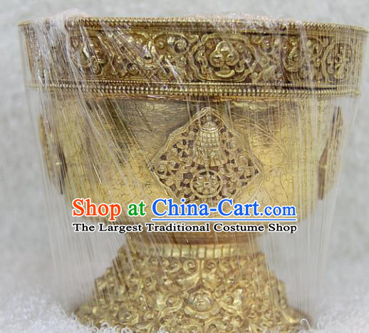 Chinese Traditional Buddhist Offersacrifice Brass Bowl Buddha Cup Decoration Tibetan Buddhism Feng Shui Items