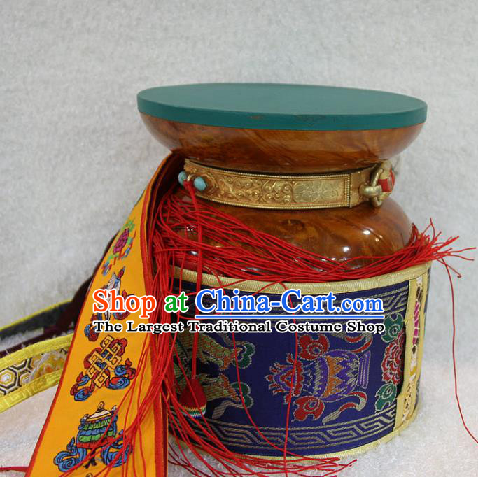Chinese Traditional Feng Shui Items Tabour Buddhism Musical Instruments Buddhist Sandalwood Drum