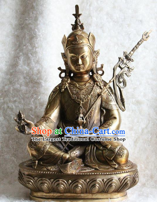 Chinese Traditional Feng Shui Copper Items Buddhism Statue Buddhist Sculpture Decoration