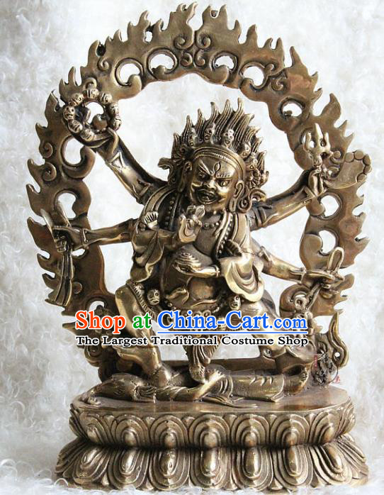 Chinese Traditional Feng Shui Items Buddhism Copper Statue Buddhist Sculpture Decoration