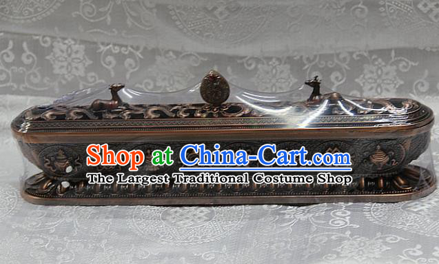 Chinese Traditional Buddhist Brass Censer Buddha Incense Burner Decoration Tibetan Buddhism Feng Shui Items
